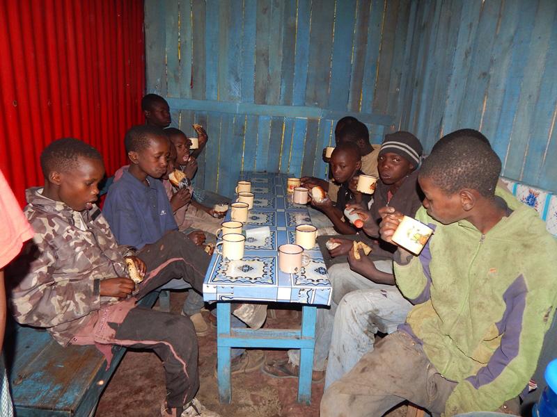 TAT providing food for the homles children in Nakuru