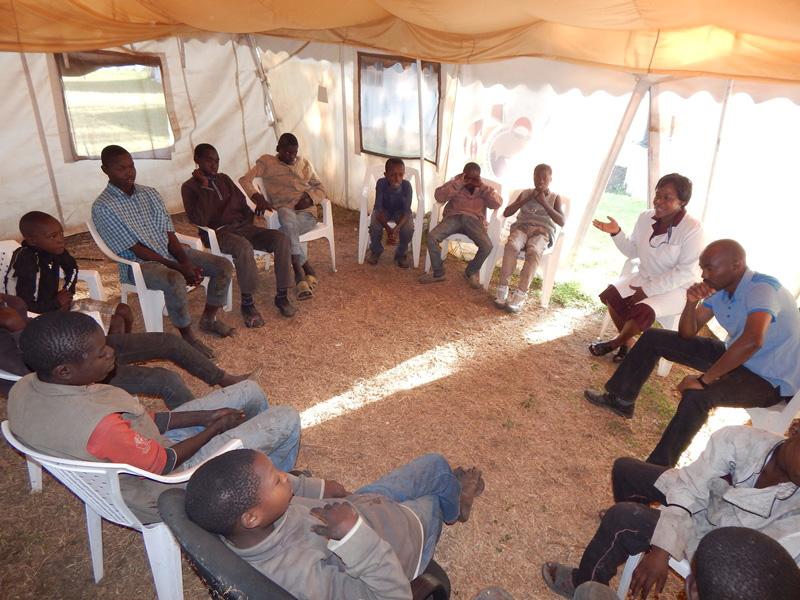 TAT listening and supporting homless children in Nakuru